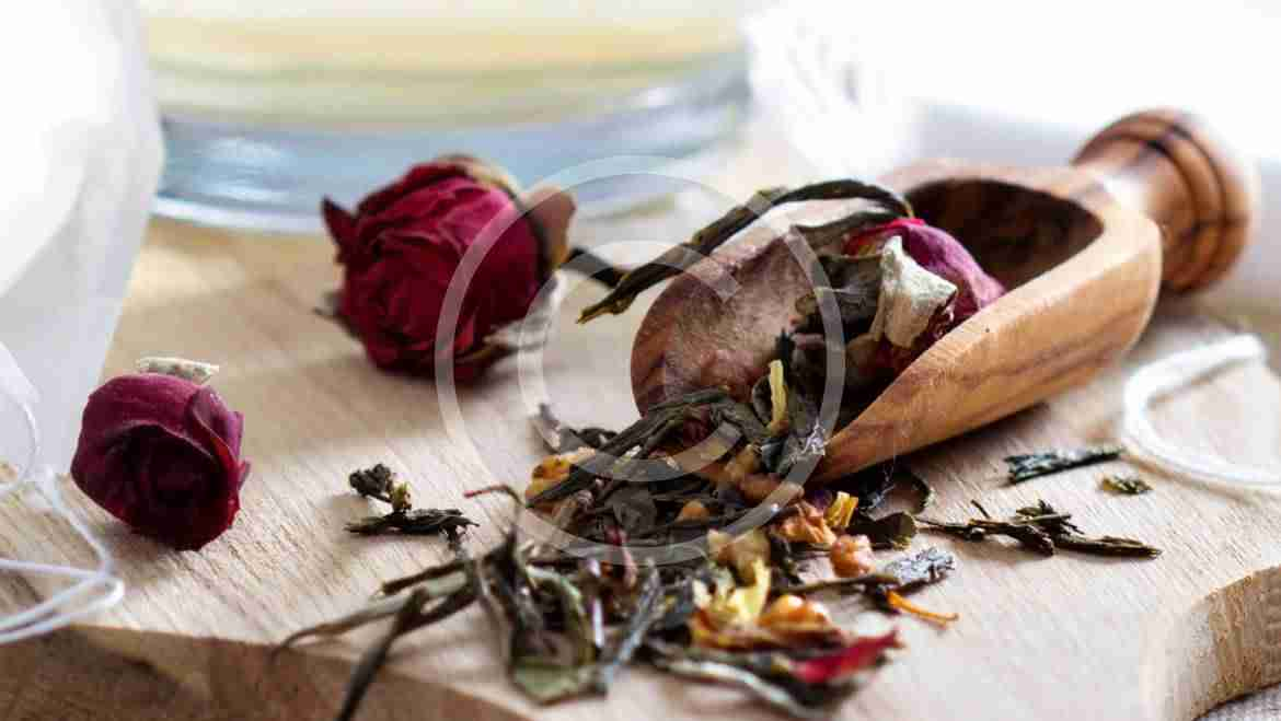Tender rose petals in your cup
